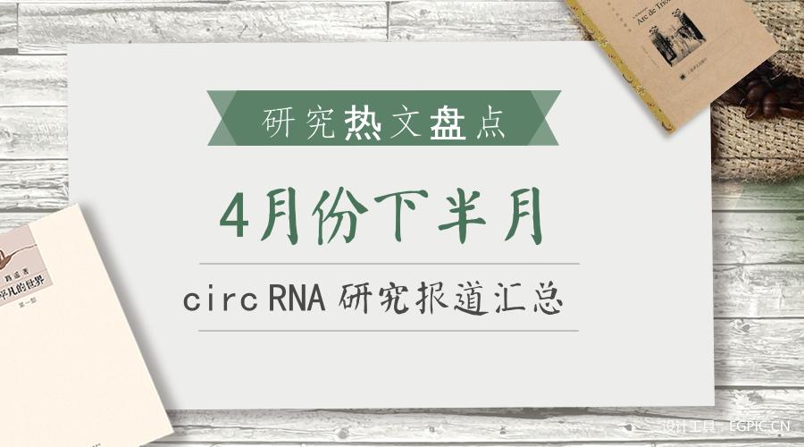 4月份下半月circRNA研究报道汇总